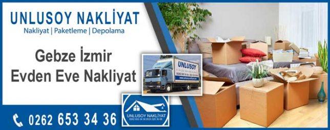 Gebze İzmir evden eve nakliyat
